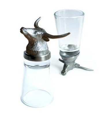 Menagerie Longhorn Shot Glass Image